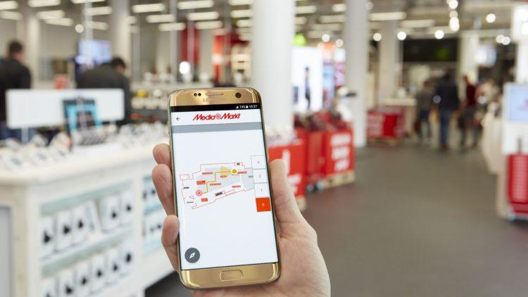 Unutrašnje pozicioniranje putem LED osvetljenja – MediaMarkt