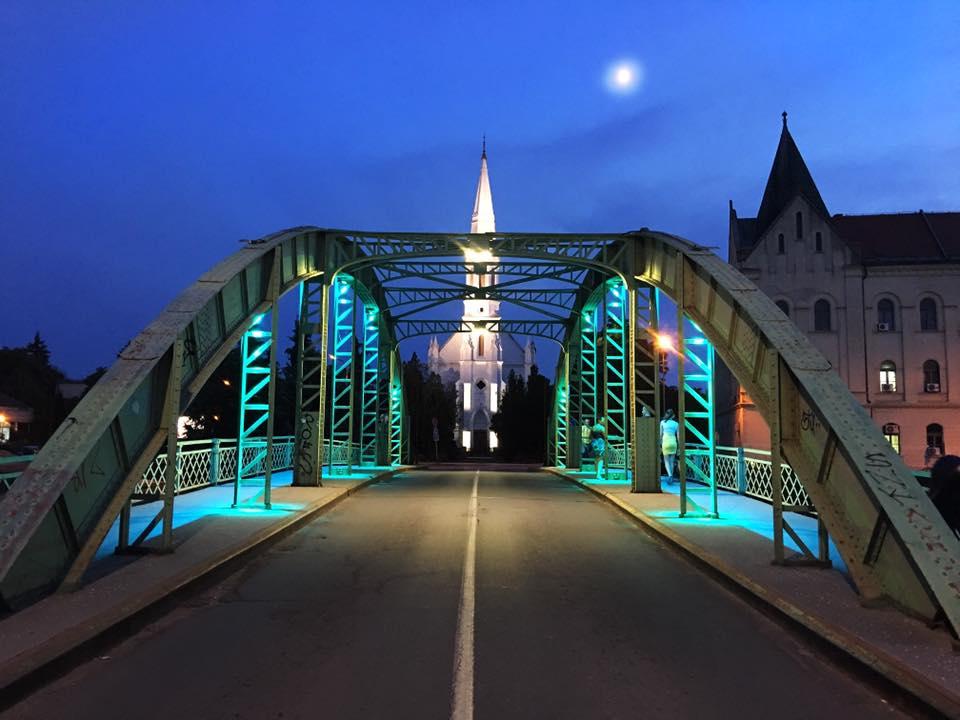 Dekorativno osvetljenje Malog mosta u Zrenjaninu