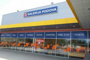 Osvetljenje prodajnog lanca Galerije Podova