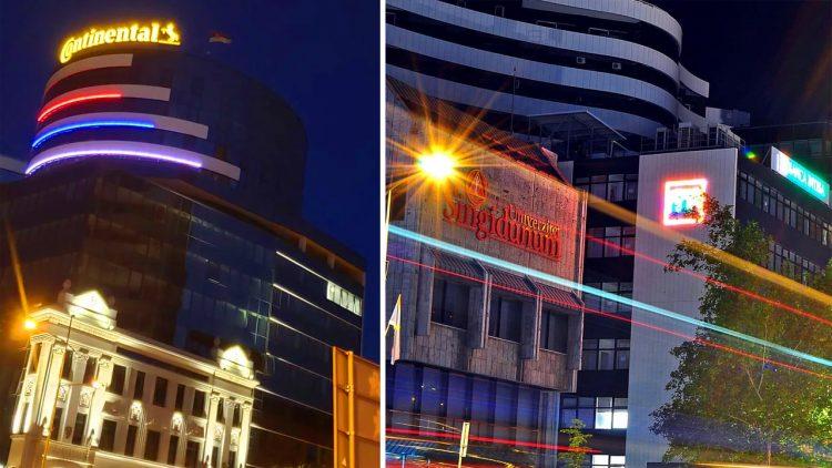 Dekorativno osvetljenje Pupinove Palate u Novom Sadu